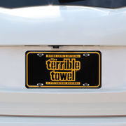 Pittsburgh Steelers Terrible Towel License Plate - Black