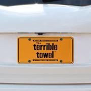 Pittsburgh Steelers Terrible Towel License Plate - Gold