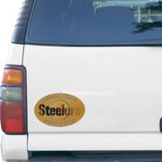 Pittsburgh Steelers 3D Big Oval Magnet -Yellow