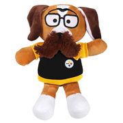 Pittsburgh Steelers Moustache Dog Plush