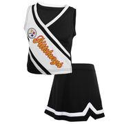 Pittsburgh Steelers Girls Toddler 2-Piece Cheerleader Set - Black