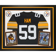 Jack Ham Pittsburgh Steelers Fanatics Authentic Deluxe Framed Autographed Proline Black Jersey with HOF 88 Inscription