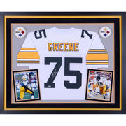 Joe Greene Pittsburgh Steelers Fanatics Authentic Deluxe Framed Autographed Proline White Jersey with HOF 87 Inscription