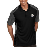 Pittsburgh Steelers Antigua Approach Polo - Black/Gray