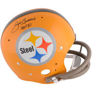 Joe Greene Pittsburgh Steelers Fanatics Authentic Autographed Yellow TK Suspension Helmet with HOF 87 Inscription