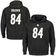 Antonio Brown Pittsburgh Steelers Majestic Eligible Receiver II Name & Number Hoodie - Black