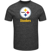 Pittsburgh Steelers Majestic End Zone Marled T-Shirt - Charcoal