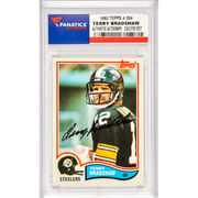 Terry Bradshaw Pittsburgh Steelers Fanatics Authentic Autographed 1982 Topps #204 Card
