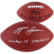 Lynn Swann Pittsburgh Steelers Fanatics Authentic Autographed Duke Pro Football with Cowboys 17-Steelers 21 Inscription