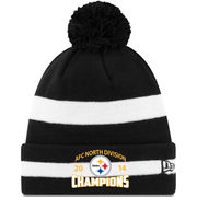 Pittsburgh Steelers New Era 2014 AFC North Division Champions Cuffed Knit Hat - Black