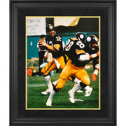 Terry Bradshaw Pittsburgh Steelers Fanatics Authentic Framed Autographed 16'' x 20'' Drop Back Photograph