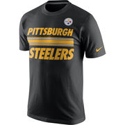 Pittsburgh Steelers Nike Team Stripe T-Shirt - Black