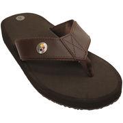 Pittsburgh Steelers Flip Flops - Brown