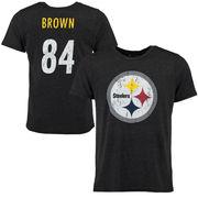 Antonio Brown Pittsburgh Steelers Tri-Blend Name & Number T-Shirt - Black