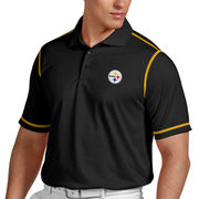 Pittsburgh Steelers Antigua Icon Desert Dry Polo - Black