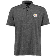 Pittsburgh Steelers Antigua Finish Desert Dry Polo - Black