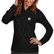 Pittsburgh Steelers Antigua Women's Full Zip Golf Jacket - Black