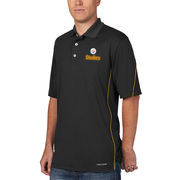 Pittsburgh Steelers Majestic Field Classic Cool Base Synthetic Polo - Black