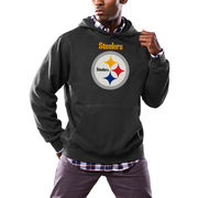 Pittsburgh Steelers Majestic Critical Victory Pullover Hoodie - Black