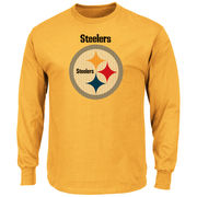 Pittsburgh Steelers Majestic Critical Victory Long Sleeve T-Shirt - Gold