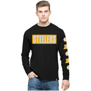 Pittsburgh Steelers '47 Crosstown Team Flanker Long Sleeve T-Shirt - Black