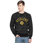 Pittsburgh Steelers '47 Brand Stealth Camo Soft Washed Sweatshirt - Black
