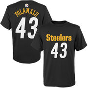 Troy Polamalu Pittsburgh Steelers Youth Mainliner Name & Number T-Shirt - Black