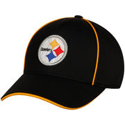 Pittsburgh Steelers Youth Pipe Structured Flex Hat - Black