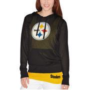 Pittsburgh Steelers Women's Holey Hooded T-Shirt & Tank Top Set - Black