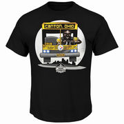 Jerome Bettis Pittsburgh Steelers Majestic Bus to Canton T-Shirt - Black