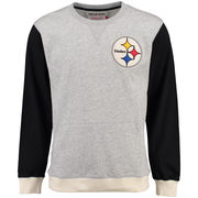Pittsburgh Steelers Mitchell & Ness Team to Beat Long Sleeve T-Shirt - Gray