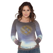 Pittsburgh Steelers Touch by Alyssa Milano Women's Touch Bright Lights Sublimated Crew Pullover Sweatshirt - Multi