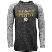 Pittsburgh Steelers Majestic Conquest Double Face Slub Long Sleeve Thermal T-Shirt - Black