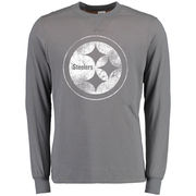 Pittsburgh Steelers NFL Pro Line Buckman Reversible Long Sleeve T-Shirt - Gray
