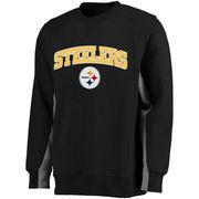 Pittsburgh Steelers NFL Pro Line Kearny Crew Sweatshirt - Black