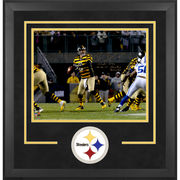 Ben Roethlisberger Pittsburgh Steelers Fanatics Authentic Deluxe Framed Autographed 16'' x 20'' Dropback Pass Vs. Indianapolis Colts Photograph with Steeler Record Inscriptions - Limited Edition 2-49 of 50