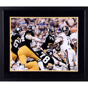 Steel Curtain Pittsburgh Steelers Fanatics Authentic Framed Autographed 16'' x 20'' Autographed 16'' x 20'' vs. Bengals Photograph