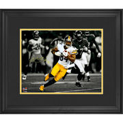 Antonio Brown Pittsburgh Steelers Fanatics Authentic Deluxe Framed Autographed 11'' x 14'' Running Spotlight Photograph