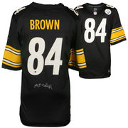 Antonio Brown Pittsburgh Steelers Fanatics Authentic Autographed Black Nike Game Jersey