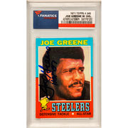 Joe Greene Pittsburgh Steelers Fanatics Authentic Autographed 1971 Topps Rookie #245 Card with HOF 87 Inscription