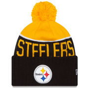 Pittsburgh Steelers New Era On-Field Sport Knit Hat with Pom - Gold