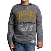 Pittsburgh Steelers Junk Food Youth Formation Fleece Crew Sweatshirt - Gray