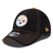 Pittsburgh Steelers New Era Crux Line Neo 39THIRTY Flex Hat - Black