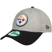 Pittsburgh Steelers New Era The League 9FORTY Adjustable Hat - Heather Gray