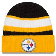 Pittsburgh Steelers New Era Rib Start Cuffed Knit Hat - Black