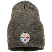Pittsburgh Steelers New Era Slouch It Knit Beanie - Heathered Gray