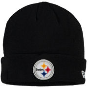 Pittsburgh Steelers New Era Solid Cuffed Knit Hat - Black