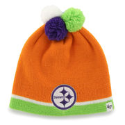 Pittsburgh Steelers '47 Infant Quatro Knit Beanie - Orange