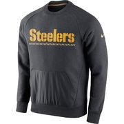 Pittsburgh Steelers Nike Championship Drive Gold Collection Hybrid Performance Fleece Sweatshirt - Charcoal