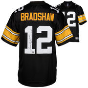Terry Bradshaw Pittsburgh Steelers Fanatics Authentic Autographed Black Proline Jersey with SB XII